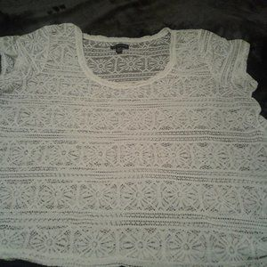 American Eagle Outfitters Lace Short Sleeves Top